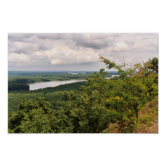 Mississippi Overlook South Poster