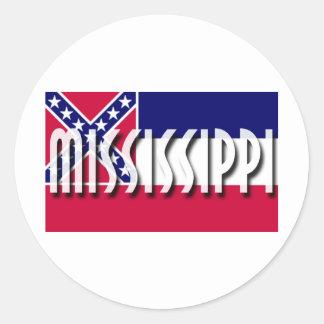 Mississippi Etiquetas Redondas