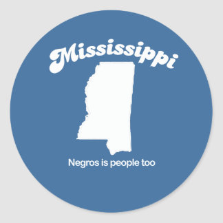 Mississippi - People too T-shirt Classic Round Sticker