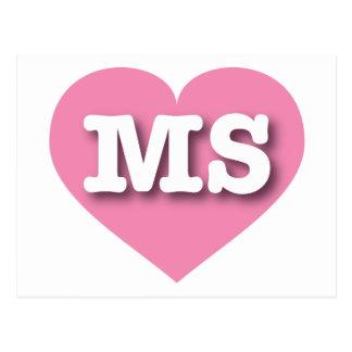 Mississippi Pink Heart - Big Love Postcard