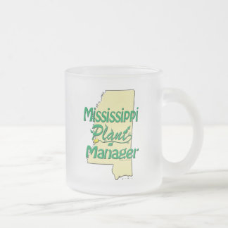 Mississippi Plant Manager Frosted Glass Coffee Mug