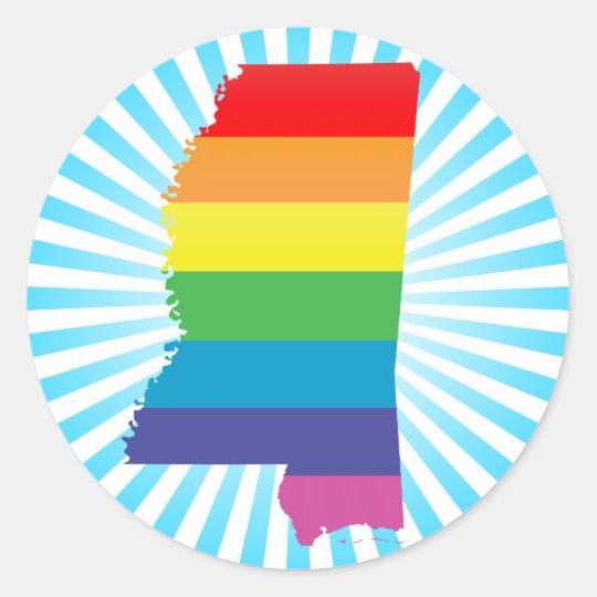 mississippi pride classic round sticker