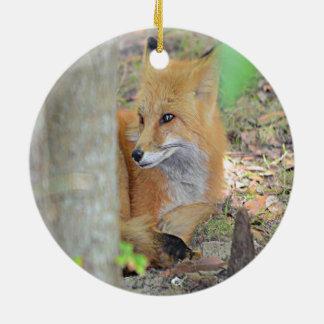 Mississippi Red Fox Ceramic Ornament