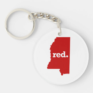 MISSISSIPPI RED STATE KEYCHAIN