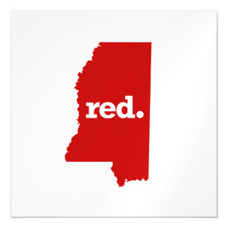 MISSISSIPPI RED STATE MAGNETIC CARD