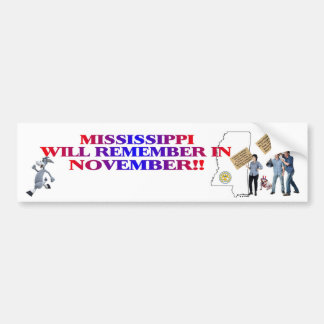 Mississippi - Return Congress To The People!! Bumper Sticker