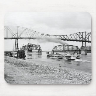 Mississippi River at Winona, 1880s Mouse Pad