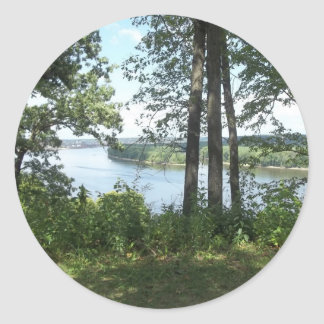 Mississippi River Bank Classic Round Sticker