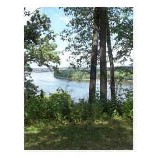 Mississippi River Bank Postcard