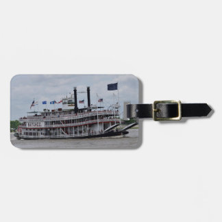 Mississippi River Boat New Orleans Luggage Tag