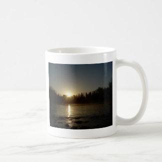 Mississippi river - Golden Sunrise Classic White Coffee Mug