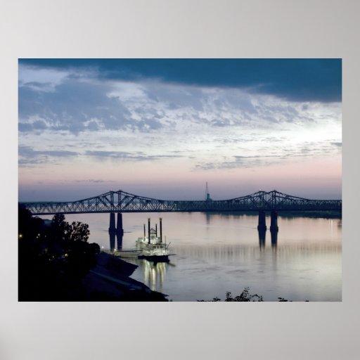Mississippi River in Natchez Mississippi Poster