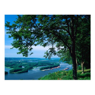 Mississippi River, Iowa Postcard