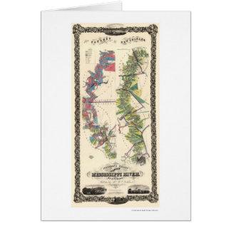 Mississippi River Map 1858 Card