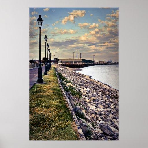 Mississippi River Moonwalk Poster