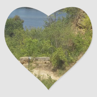 Mississippi River overlook Heart Sticker