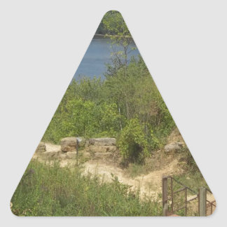 Mississippi River overlook Triangle Sticker
