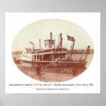 """Mississippi River Snagboat """"U.S. Gen. Barnard""""  Posters"""