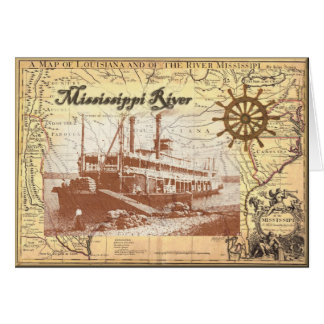 MIssissippi River Steamboat Card