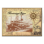 MIssissippi River Steamboat Greeting Card