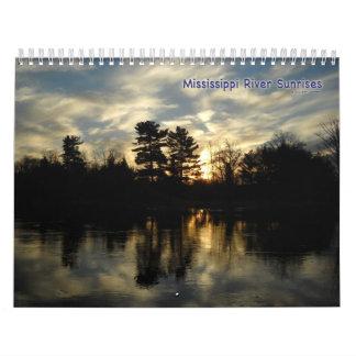 Mississippi River Sunrises Calendar