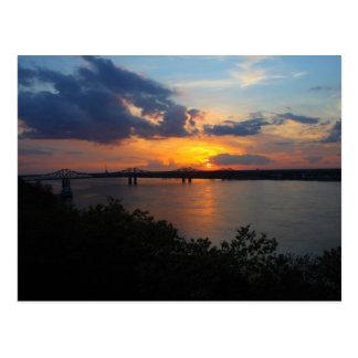 Mississippi River Sunset - Natchez, MS Post Card