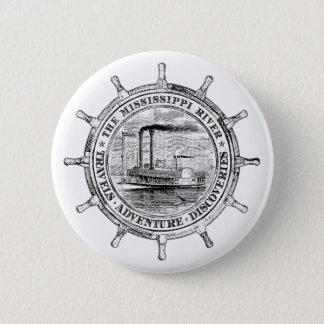 Mississippi River. Travels. Adventure. Discoveries Button