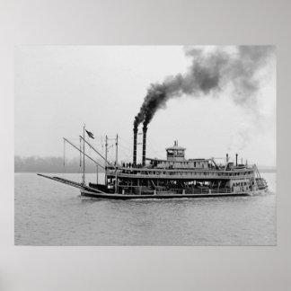 "Mississippi Riverboat ""America"" 1905 Poster"