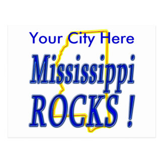 Mississippi Rocks ! Postcard