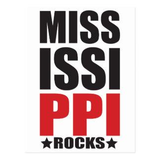 Mississippi Rocks! State Spirit Gifts and Apparel Postcard