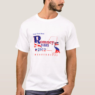 Mississippi Romney y camiseta 2012 de Ryan 2