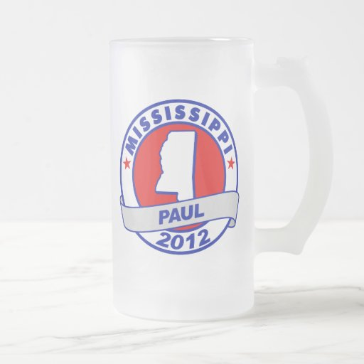Mississippi Ron Paul 16 Oz Frosted Glass Beer Mug