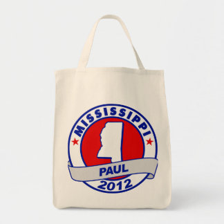Mississippi Ron Paul Canvas Bags