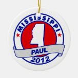 Mississippi Ron Paul Christmas Tree Ornaments