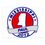 Mississippi Ron Paul Tarjeta Postal
