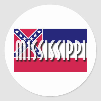 Mississippi Round Stickers