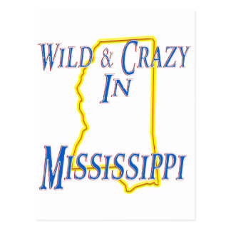 Mississippi - salvaje y loco tarjeta postal