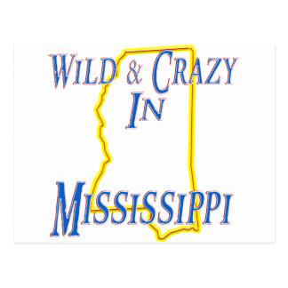 Mississippi - salvaje y loco tarjetas postales