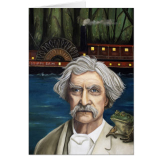 Mississippi Sam Aka Mark Twain Greeting Card
