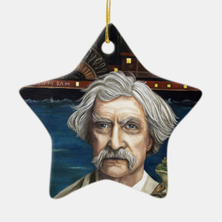 Mississippi Sam Aka Mark Twain Ceramic Ornament