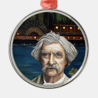 Mississippi Sam Aka Mark Twain Metal Ornament