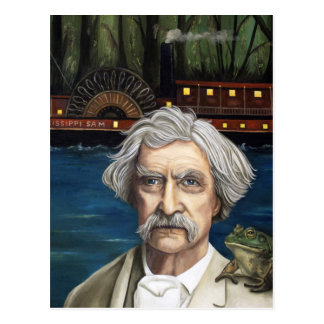 Mississippi Sam Aka Mark Twain Postcard
