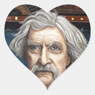 Mississippi Sam Aka Mark Twain Heart Sticker