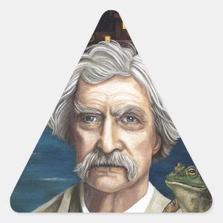 Mississippi Sam Aka Mark Twain Triangle Stickers