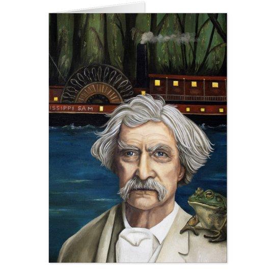Mississippi Sam Aka Mark Twain Tarjeta De Felicitación