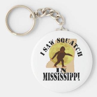 MIssissippi Sasquatch Bigfoot Spotter - I Saw Him Keychains