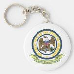 Mississippi Seal Basic Round Button Keychain