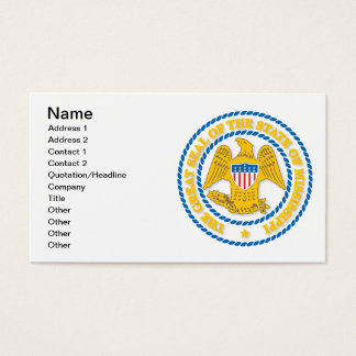 Mississippi seal business card