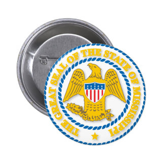 Mississippi seal pinback button