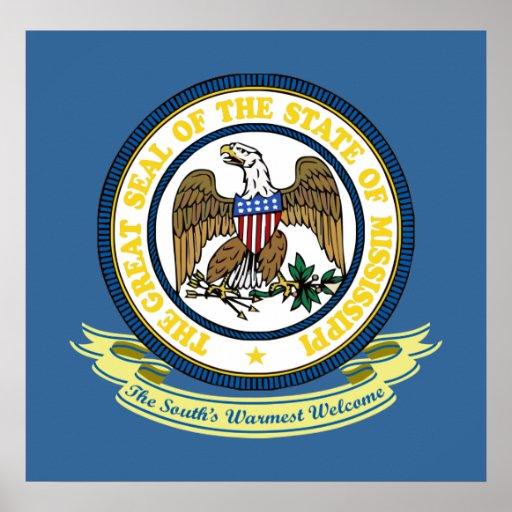 Mississippi Seal Print